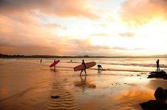 Surfin' Byron Bay.