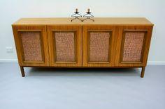 MID CENTURY LONG Teak Sideboard Drawers Retro Vintage Parker danish Eames era