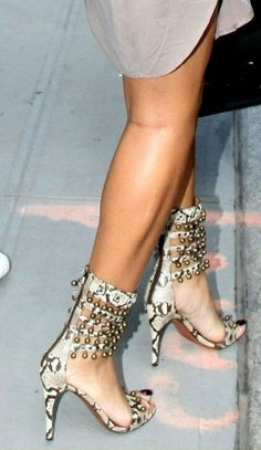 Azzedine Alaia Python Sandals with Bells