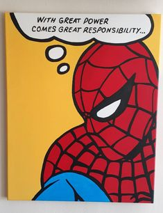 Spiderman Comic Popart on Canvas by on Etsy Superhero Canvas, Marvel Canvas, Marvel Art, Spiderman Drawing, Drawing Superheroes, Spiderman Art, Easy Canvas Painting, Diy Canvas Art, Mini Canvas