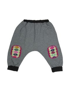 edc57a7042138 Super comfy harem pants made of 100% organic pima cotton and featuring  kneepads made of