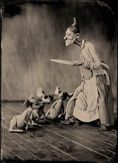 Three Blind Mice - Marionettes by DeLores Hadley