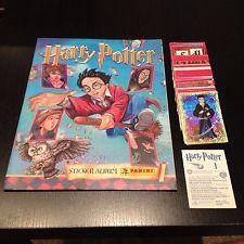 Panini stickers Harry Potter 2001 Set of 144 & letters & empty Album