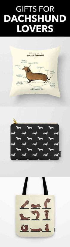 Find the perfect gift for the dachshund lover in your life. Shop doxie pillows, mugs, phone cases, carry-all pouches, & more - all designed by artists and printed on demand.