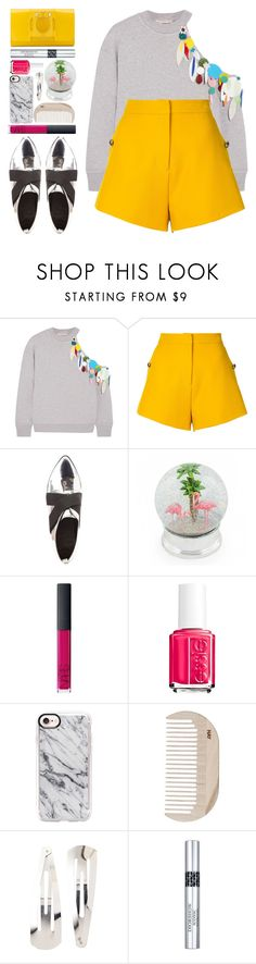 """Noëlle"" by blueberrylexie ❤ liked on Polyvore featuring Christopher Kane, macgraw, Charlotte Russe, NARS Cosmetics, Essie, Casetify, HAY, Adia Kibur, Christian Dior and Perrin"