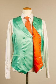 Beige Jacket with Turquoise Waistcoat — De Oost Bespoke Tailoring