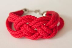 Sailor knot rope bracelet  bridesmaid/ friend gift by SummerNightDream, $8.00
