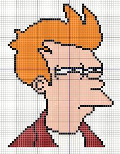 Buzy Bobbins: Not sure if... Fry Meme cross stitch design