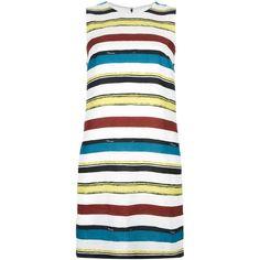 DOLCE & GABBANA striped shift dress ($840) ❤ liked on Polyvore