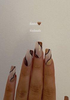 Simple Acrylic Nails, Best Acrylic Nails, Acrylic Nail Designs, Simple Nails, Funky Nail Designs, Neutral Nail Designs, Frensh Nails, Swag Nails, Les Nails