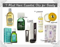 7 Must have essential oils!