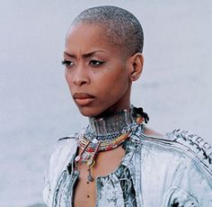 Some have said that more is less - and it can even be applied to hair, thanks to these bald (or buzz cut) beauties, like Erykah Badu! Short Cropped Hair, Short Hair Cuts, Short Hair Styles, Short Afro, Bald Hair, Bald Women, Silver Hair, Beautiful Black Women, Hair Inspiration