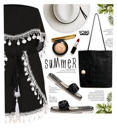 """Black playsuit - Yoins"" by yexyka ❤ liked on Polyvore featuring Calypso Private Label, Nearly Natural, yoins and yoinscollection"