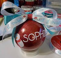 Glitter ornament: So excited I tried this using Glitter-It, glass ornaments and vinyl cut with my Cricut.