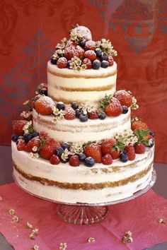 Gâteau nu aux baies comme - Cakes - #aux #Baies #Cakes #comme #gateau #nu