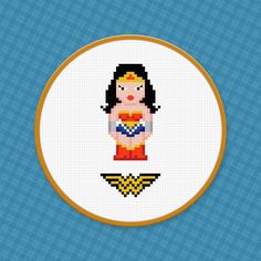 Wonder Woman - Digital PDF Cross Stitch Pattern (4.00 USD) by AmazingCrossStitch