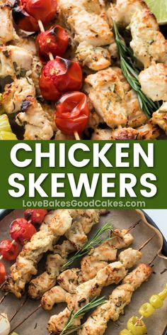 Chicken Skewers are marinated in a tangy and flavorful yogurt mixture before being baked to tender perfection—an easy, healthy dinner recipe.