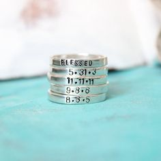 Omg.... Love love love this!!!!  Personalized Mothers Jewelry- Hand Stamped Rings by hfgifts, $32.00