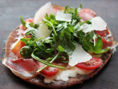 Prosciutto And Vegetable Flat Bread Pizza - Get this pizza recipe and loads of other mint tips with our Diet Club! Join Now!