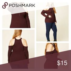 Cold Shoulder Swearer A Medium-Weight Ribbed Knit Sweater Featuring Long Sleeves With An Open-Shoulder Design, A Round Neckline, And Ribbed Trim. 55% Cotton, 45% Acrylic  - Hand Wash Cold. Forever 21 Sweaters