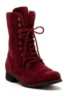 Carrini Modern Topstitched Boot on HauteLook. Normally don't like velvet looks. But I love these!