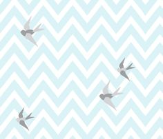 bird5 fabric by lottiefrank on Spoonflower - custom fabric