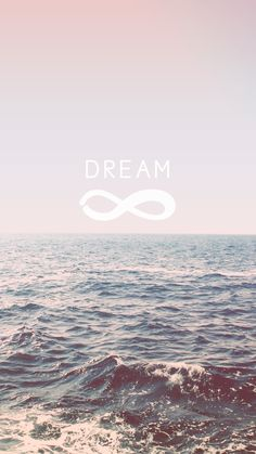 Dream + Infinity | free pastel ocean waves iPhone background