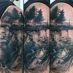 realistic pond tattoo - Google Search