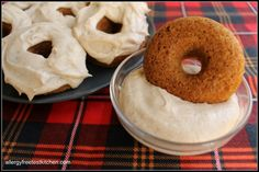 Gingerbread Donuts w/ Cinnamon Buttercream Frosting - gluten, dairy, egg, soy free.  YUM!!