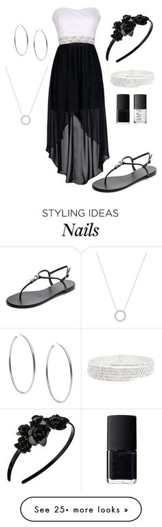 """choir outfit (I wish)"" by johanna4475 on Polyvore featuring Giuseppe Zanotti, Michael Kors, L. Erickson and NARS Cosmetics"