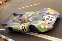 24 heures du Mans 1970 - Porsche 917L #3 - Gerard Larousse / Willy Kauhsen - 2ème Le Mans, Sport Cars, Race Cars, Course Automobile, Road Racing, Auto Racing, Porsche Motorsport, 70s Cars, Martini Racing