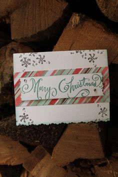 Handmade Christmas Card with Photograph