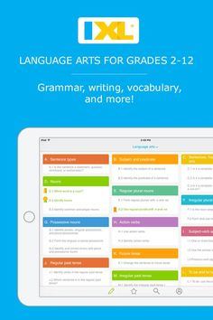 Interactive language arts + grammar practice for 2nd to 12th grade!