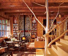 Cele mai frumoase interioare rustice pentru casa ta  Lemnul este, poate, cea mai intalnita resursa folosita in constructia caselor, la finisajul peretilor, la fabricarea mobilierului si accesoriilor, structuri de rezistenta sau diferite subansamble constructive.    Lemnul natural, folosit