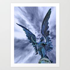 Angel36 Art Print by rjwise - $17.68