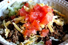 THM Taco Salad... Make Your Own Healthy Taco Seasoning! It's Simple and much better than the store bought packets.