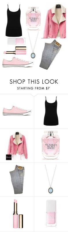 """Untitled #203"" by fadedlipstick on Polyvore featuring Converse, M&Co, Relaxfeel, Victoria's Secret, Versace, Armenta, Clarins and Christian Dior"