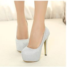 17.27$  Watch here - http://aine9.worlditems.win/all/product.php?id=SW008S-37 - New Women High Heels Candy Color Platform Sole Pointed Heel Low Cut Pumps Silver