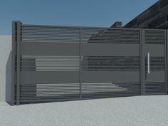 House Fence Design, Front Gate Design, Steel Gate Design, Main Gate Design, Door Gate Design, Gate Designs Modern, Modern Fence Design, Modern House Design, Aluminium Gates