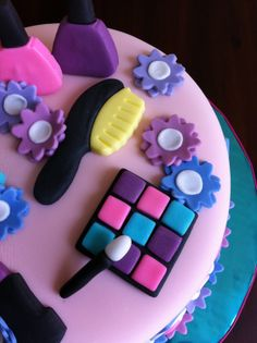 6 year old girl birthday cakes   spa themed birthday cake for a 7 year old girl s birthday at sweet ...
