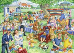The House Of Puzzles - 1000 PIECE JIGSAW PUZZLE - Car Boot Sale in Toys & Games, Jigsaws & Puzzles, Jigsaws   eBay