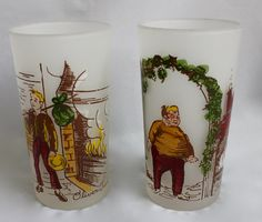 Vintage Hazel Atlas Gay Fad Dickens Glasses/ by CuriousAndVintage