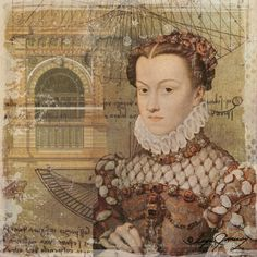 Another Renaissance Maiden Digital Collage