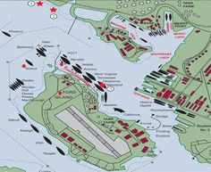 The National Park Service has a great map, illustrated by Zack Anderson, that shows where the Arizona was berthed during the attack. If you take a close look you can also see the vantage point of Dr. Eric Haakensen (aboard the USS Solace) as he filmed the Arizona exploding.