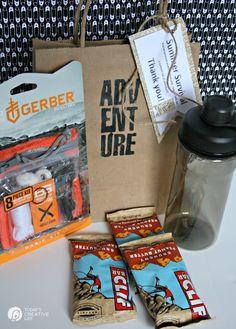 Male Teacher Gift - Summer Survival Kit   Teacher Appreciation Week   See more creative inspiration on TodaysCreativeLife.com