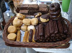Street food from Argentina - Dulce de leche filled baked goods.