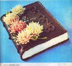 Аппетитные сканы из книги «Производство пирожных и тортов» (Автор: П.С. Мархель, С.В. Смелов. Издательство: Пищевая промышленность. Год выпуска: 1975) Ice Cake, Tiramisu, Cake Recipes, Cake Decorating, Ice Cream, Chocolate, Cooking, Ethnic Recipes, Desserts