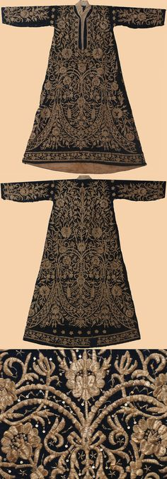 Antique Turkish Textile. A Woman's Kaftan worn at Court. Circa 1840