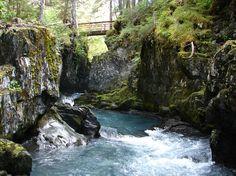Girdwood- Winner Creek Gorge hike through a rainforest