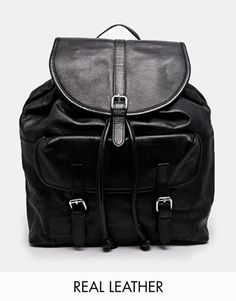 Pieces Leather Backpack